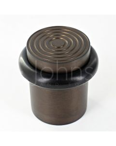 reeded-pattern-floor-mounted-door-stop-40mm-x-38mm-dark-bronze