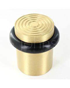 reeded-pattern-floor-mounted-door-stop-40mm-x-38mm-satin-brass