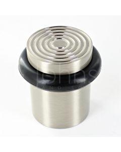 reeded-pattern-floor-mounted-door-stop-40mm-x-38mm-satin-nickel