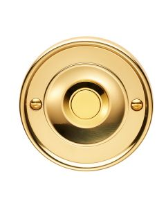 Round Bell Push - 64mm Diameter - Polished Brass