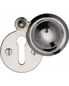 Round Covered Escutcheon Key Hole Cover - Polished Nickel - Each