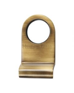 Round Cylinder Pull - Antique Brass