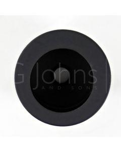 Circular Flush Fitting Edge Pull - 30mm Diameter x 20mm Depth - Matt Black
