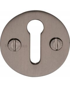 Round Open Escutcheon Key Hole Cover - Matt Bronze - Each