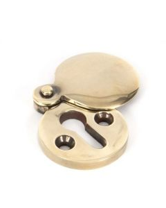 Round Standard Profile Covered Escutcheon - Face Fixed - Aged Brass Unlacquered