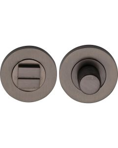 Bathroom Turn & Release Set With Knurled Knob - Matt Bronze