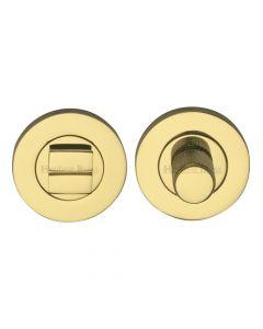 Bathroom Turn & Release Set With Knurled Knob - Polished Brass