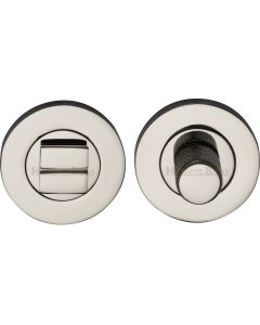 Bathroom Turn & Release Set With Knurled Knob - Polished Nickel