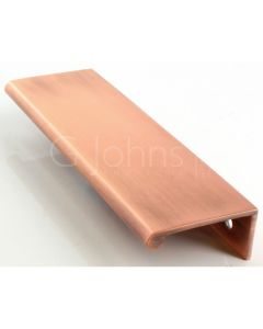 Flush Edge Pull - Aged Satin Copper