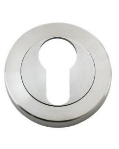 Euro Profile Round Escutcheon - Satin Stainless Steel
