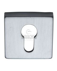 Euro Profile Square Escutcheon - Satin Chrome
