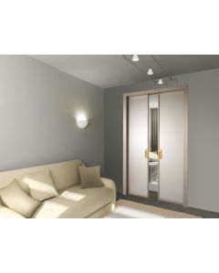 Scrigno Sliding Pocket Door Cassette System - Double Door Kit - 125mm Finished Wall Thickness - Supplied With White Melamine Jamb Kit