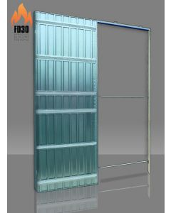 Scrigno Single Sliding Pocket Door Kit - Fire Rated Kit - FD30 - 125mm Finished Wall Thickness
