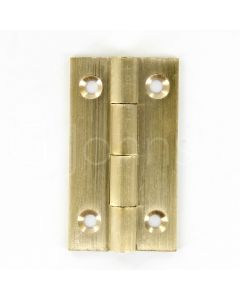 Small Cabinet Hinges - 38mm x 22mm - Drawn Brass