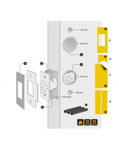 Intumescent Pack To Suit Codelocks Digital Locks