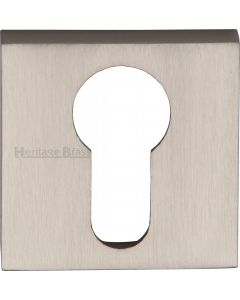 Euro Profile Square Escutcheon - Satin Nickel