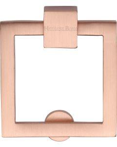 Square Cabinet Pull - Satin Copper