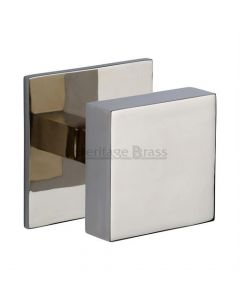 Traditional Square Centre Door Knob- Polished Nickel