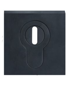 Square Euro Profile Security Escutcheon Set - For External & Security Doors - Matt Black
