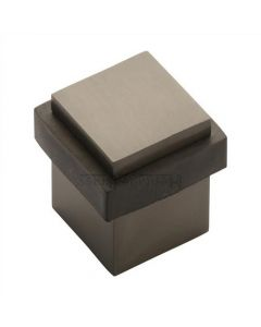 Square Floor Mounted Door Stop - Matt Black Bronze