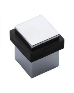 Square Floor Mounted Door Stop - Polished Chrome