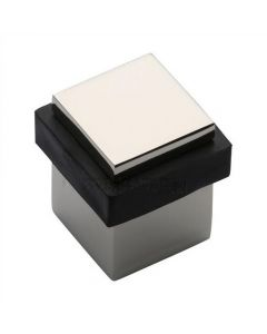 Square Floor Mounted Door Stop - Polished Nickel
