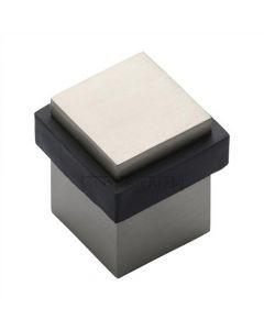 Square Floor Mounted Door Stop - Satin Nickel