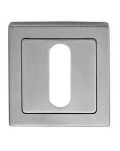 Standard Profile Square Escutcheon - Dual Finish - Satin & Polished Stainless Steel