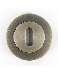 Standard Profile Escutcheon - Antique Brass