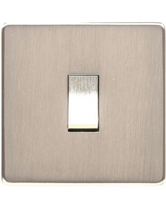 Studio Concealed Fix Design - Flat Screwless Plate Light Switches Sockets And Dimmers - Satin Nickel