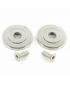 Face Fix Rose Kit For 19mm - 32mm Diameter Pull Handles - Polished Stainless Steel