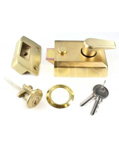 Surface Mounted Night Latch (Front Door Yale Lock) - Satin Brass