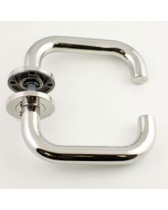 High Performance 19mm Return To Door Lever Handles - BS 8300 Compliant - Polished Stainless Steel