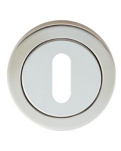 Standard Round Profile Escutcheon - Dual Finish - Polished and Satin Stainless Steel