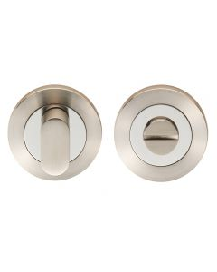 Bathroom Turn & Release Set - Dual Finish - Satin & Polished Stainless Steel