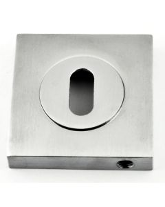 Standard Profile Square Escutcheon - Satin Chrome