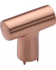 T-Bar Cupboard Knob - 35mm - Satin Copper