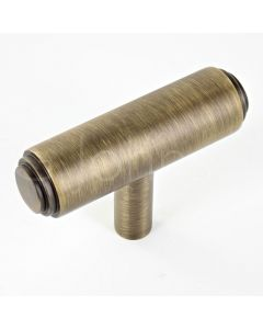 t-shape-cabinet-cupboard-knob-with-stepped-ends-with-optional-base-rose-antique-brass-each