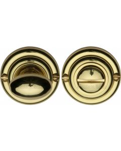 Thumbturn & Release To Suit Mortice Knobs - Polished Brass - Each