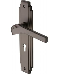 Tiffany Lever Door Handles On A Backplate - Matt Bronze - Suitable For Use With FD30 / FD60 Fire Doors