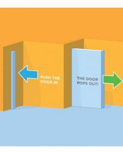 Pocket Door Touch Latch - For Adjustable Pocket Door Kits - 25mm Throw
