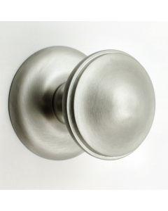 Traditional Centre Door Knob - 68mm Diameter - Satin Chrome