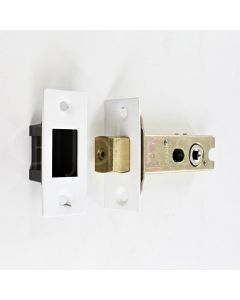 Tubular Mortice Deadbolt With 5mm Follower - Matt White Finish