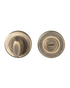 Turn & Release On Concealed Fix Round Rose - Antique Brass