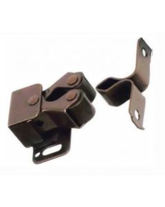 Twin Roller Catch For Light Weight Cupboard Doors - Bronze Finish