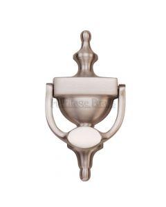 Traditional Urn Style Door Knocker - Satin Nickel Finish