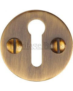 Round Open Escutcheon - Light Antique Brass
