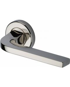 Bellagio - Round Rose Lever Handles Only - Polished Nickel