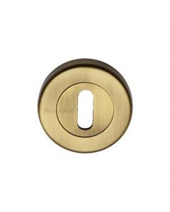 Standard Profile Round Escutcheon - Light Antique Brass