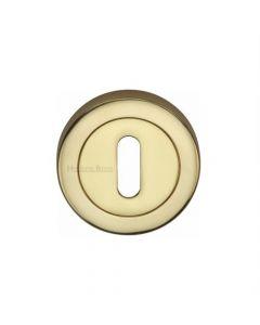 Standard Profile Round Escutcheon - Polished Brass